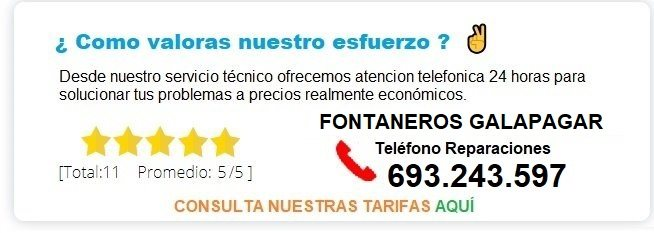 fontanero Galapagar precio